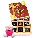 Valentine Chocholik Premium Gifts - Dark Chocolates Collection Treat With Teddy