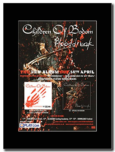 Children Of Bodom-Sangue Drunk Magazine Promo su un nero Mount