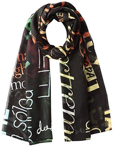 Desigual Foulard_Rectangle Heritatge, Scialle Donna, Nero (Negro 2000), Taglia Unica (Taglia Produttore: One Size)