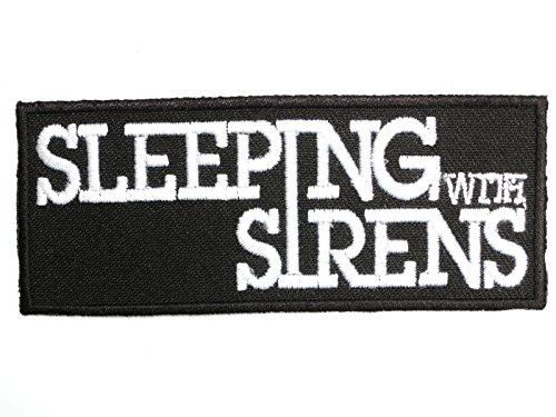 "Why Choose SLEEPING WITH SIRENS Iron On Sew On Embroidered Post Hardcore Band PatchApprox: 3.5""..."