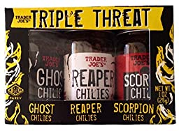 Trader Joe\'s Triple Threat Pepper Set: Ghost Chilies, Reaper Chilies, Scorpion Chilies
