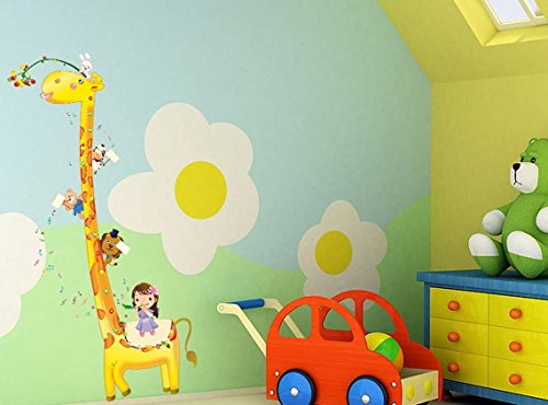 Removable Children Room Living Room Television Background Environmental Pvc Wall Stickers Giraffe front-222815