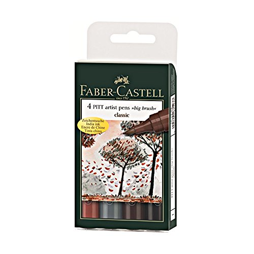 Pitt Artist Big Brush 4 Classic Color Set (Faber Castell Big Brush compare prices)