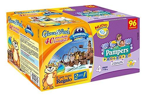 Pampers Progressi Pannolini Maxi, Taglia 4 (7-18 kg), 96 Pannolini