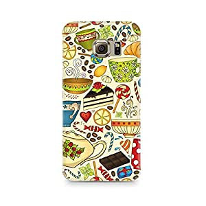 Motivatebox - Abstract Tea Party Samsung S6 cover - Polycarbonate 3D Hard case protective back cover. Premium Quality designer Printed 3D Matte finish hard case back cover.
