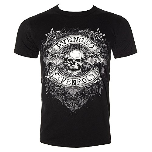T Shirt Avenged Sevenfold Star Flourish (Black) - Medium