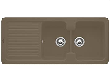 Villeroy Boch Condor &80 Timber Ceramic Sink Kitchen Sink Eunbau Brown