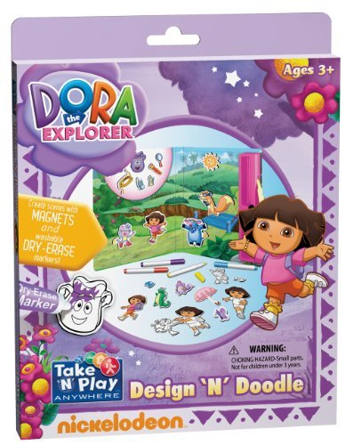 Two Activities In One Dry-Erase And Magnetic Play - Dora the Explorer Design 'N' Doodle - Dora the Explorer