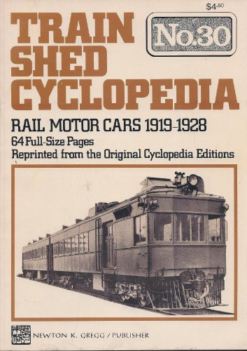 Train Shed Cyclopedia No. 30: Rail Motor Cars 1919-1928 (1920 Cars compare prices)