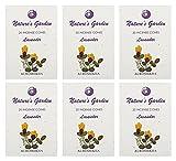 Auroshikha Nature's Garden Incense Cones - LAVENDER (276gms, 120 cones) - Set of 6