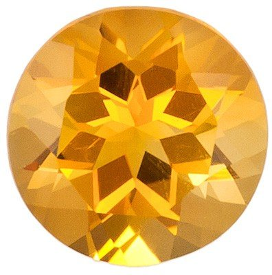 Dazzling Yellow Citrine Gemstone for SALE - Good Cut & Color, Round Cut, 0.72 carats