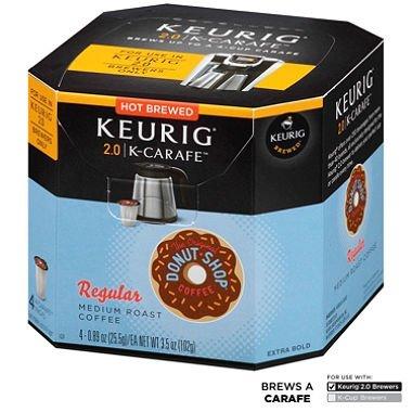 Donut Shop Regular Keurig K-Carafe Coffee - 4 Ct. - Medium Roast (4 Individual Servings - 3.5 oz. Net Wt.) (Keurig Donut Shop Regular compare prices)
