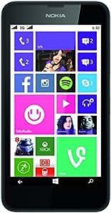 Nokia Lumia 630 Dual-SIM Smartphone (4,5 Zoll (11,4 cm) Touch-Display, 8 GB Speicher, Windows 8) schwarz