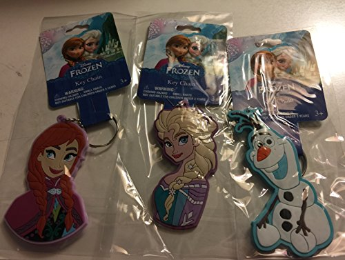 Disney Elsa Anna Olaf Soft Touch Key Ring