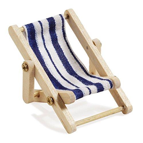 Deko-Liegestuhl-Holz-blau-weier-Stoffsitz-5-x-35-cm