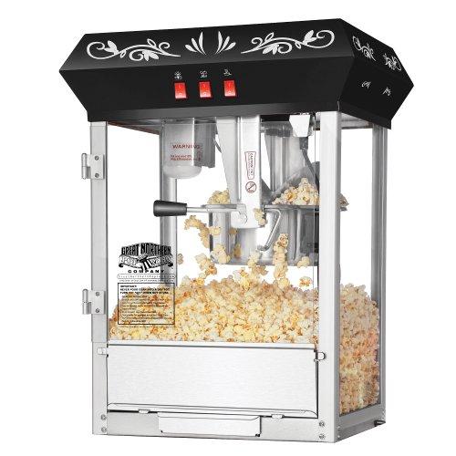 great-northern-popcorn-black-8-oz-ounce-foundation-movie-theater-style-popcorn-machine-top