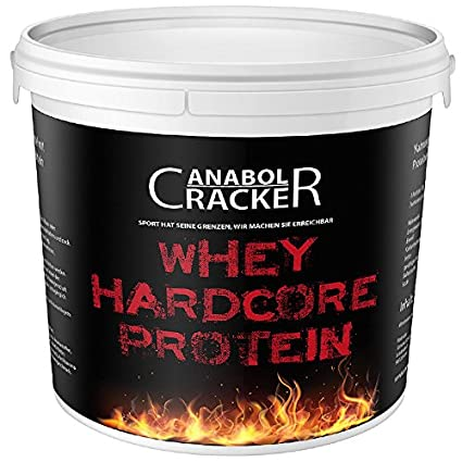 Whey Hardcore Protein, Eiweißpulver, 700g Eimer, Vanille Geschmack, Aminosäuren Mukselaufbau