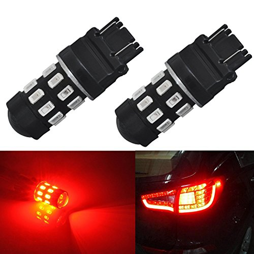 JDM ASTAR Super Bright 5730 Chipsets 3056 3156 3057 3157 LED Bulbs with Projector,Brilliant Red (2000 Softail Service Manual compare prices)