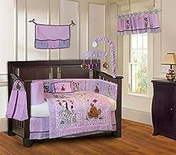 BabyFad Jungle Girl 10 Piece Baby Crib Bedding Set