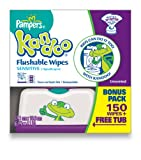 Pampers Kandoo Flushable Wipes For Toddlers, Sensitive Refill - 150 Ea