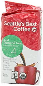 Seattle's Best Level 4 Decaf Twilight Organic Free Trade, Whole Bean, 12-Ounce Bags (Pack of 3) by Seattle's Best Coffee