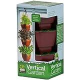 Radius Garden Way2Gro Herb and Lettuce Hanging Vertical Garden Kit, Crimson