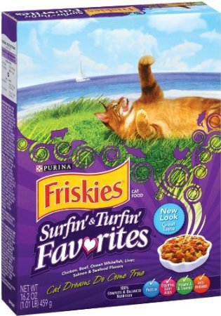 """Purina Friskies """"Surfin' & Turfin' Favorites"""" Dry Cat Food, 16.2 Oz (Pack Of 2)"""