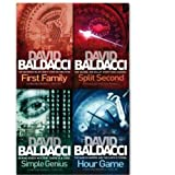 David Baldacci King & Maxwell Collection 4 Books Set (Split Second, Hour Game , Simple Genius, First Family)