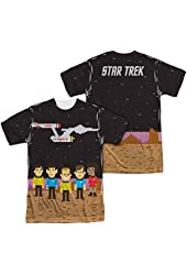 Sublimation Front/Back: Pixel Crew Star Trek The Original Series T-Shirt