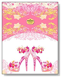 Pink Stiletto Heels Notebook - A pair of fancy pink stiletto heeled shoes bring class and dress up the cover of this blank unlined notebook.