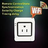 電源リモートスイッチ WiFiで制御する電源コンセント 自宅の電源をスマホから遠隔操作できる AndroidデバイスとiPhone, iPod touch, iPad 対応wifiソケット [並行輸入品]