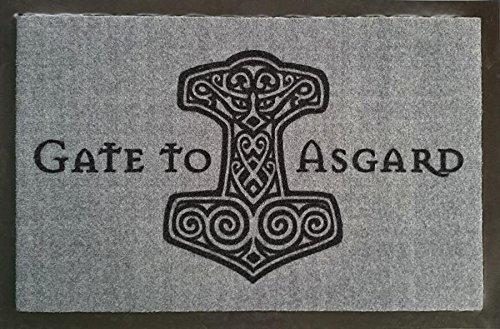 Gate to Asgard Zerbino Zerbino con scritta in vichinghi Zerbino Odin Zerbino Tappeto Doormat