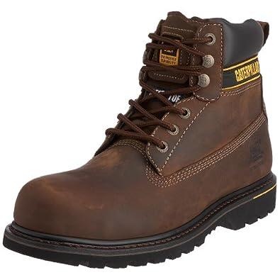 Caterpillar Holton, Chaussures de sécurité homme - Marron (Dark Brown), 40 EU