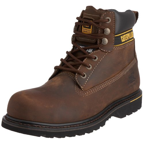 Cat Footwear Holton sb, Stivali antinfortunistici uomo, Marrone (Dark Brown), 40