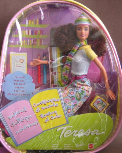 Barbie Teresa School Cool Doll with Plastic Backpack Carry Tote (2000) - Buy Barbie Teresa School Cool Doll with Plastic Backpack Carry Tote (2000) - Purchase Barbie Teresa School Cool Doll with Plastic Backpack Carry Tote (2000) (Barbie Teresa, Toys & Games,Categories,Dolls,Fashion Dolls)