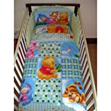 Disney Winnie the Pooh Follow the Leader Bedding Set with Duvet & Pillow for Cot or Cotbed Green (Cot - 120 x 60cm)