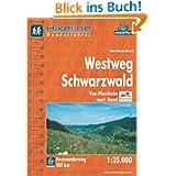 Hikeline Fernwanderweg Westweg Schwarzwald. Von Pforzheim nach Basel. Wanderführer und Karte 1:35.000, 285 km,...