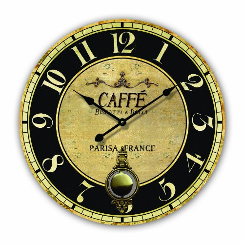 Tinas Collection WANDUHR DESIGN KAFFEE PENDELUHR RIESENGROSS 50CM KÜCHENUHR - Tinas Collection - Das etwas andere Design
