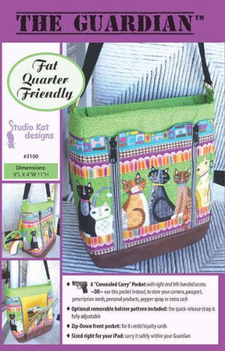 Read About The Guardian Conceal Carry Bag Purse Pattern No. 3100 By Studio Kat Designs