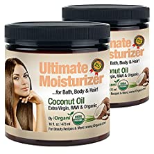buy Iorgani Raw Virgin Organic Coconut Oil For Body, Skin, Scalp And Hair Growth (Pack Of 2)