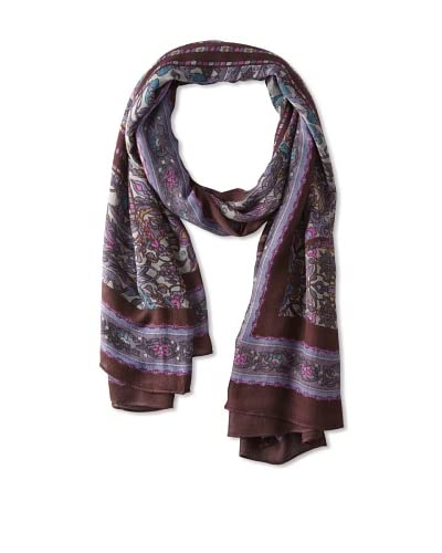 Theodora & Callum Women's Odessa Wearable Art Scarf, Navy Multi, One Size