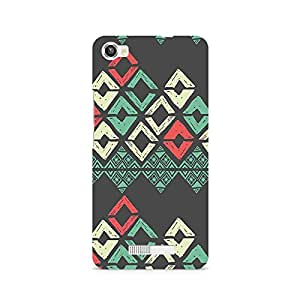 Motivatebox- Grey Rhombus Premium Printed Case For Lava Iris X8 -Matte Polycarbonate 3D Hard case Mobile Cell Phone Protective BACK CASE COVER. Hard Shockproof Scratch-