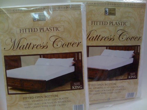 Lowest Prices! New 2 Mattress Covers Waterproof King Fitted Sheets Bed