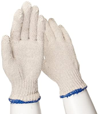 """West Chester 706SL Cotton/Polyester Glove, Elastic Wrist Cuff, 8.5"""" Length, Large (Pack of 12 Pairs)"""