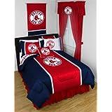 MLB Boston Red Sox Baseball Team 4pc Twin Bedding Set by MLB