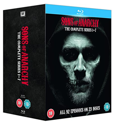 Sons of Anarchy (Complete Series 1-7) - 23-Disc Box Set ( Sons of Anarchy - Series One thru Seven (92 Episodes) ) [ Blu-Ray, Reg.A/B/C Import - United Kingdom ] (Sopranos Complete Season compare prices)