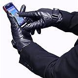 スマートフォン対応 レザー手袋 メンズ用 タッチパネル対応 イーチップグローブ