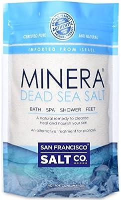 Minera Dead Sea Salt 2lb Bag Fine Grain, 100% Pure Mineral Salt Treatment