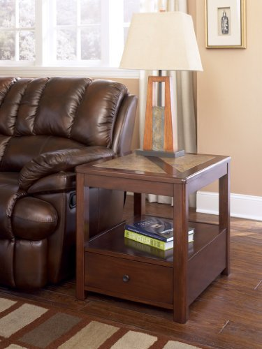 Cheap Maddox End Table with Rustic Brown Finish (T543-3)