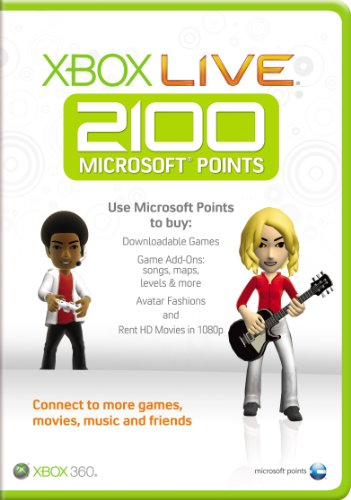 Microsoft Xbox Live 2100 Points Card